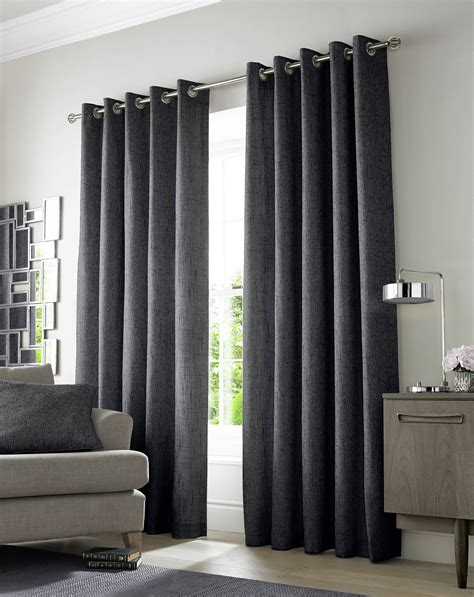 charcoal curtains academy eyelet curtains 229x229cm charcoal