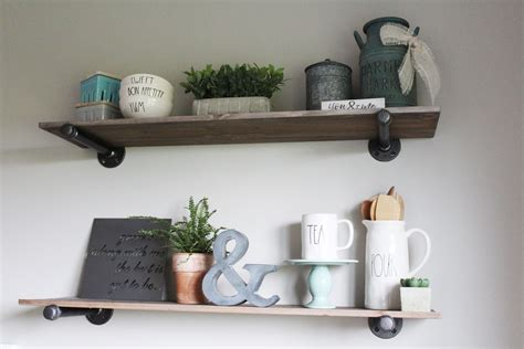 diy project how to build pipe shelves the holtz house