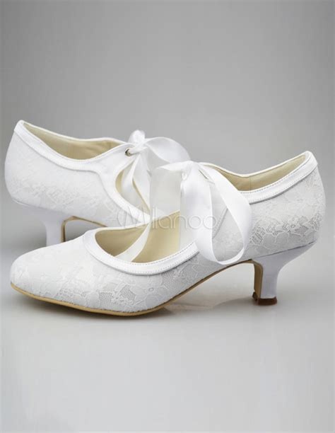 Lace Up Bridal Shoes by Stylish Lace Up Chunky Heel Bridal Wedding Shoes Milanoo