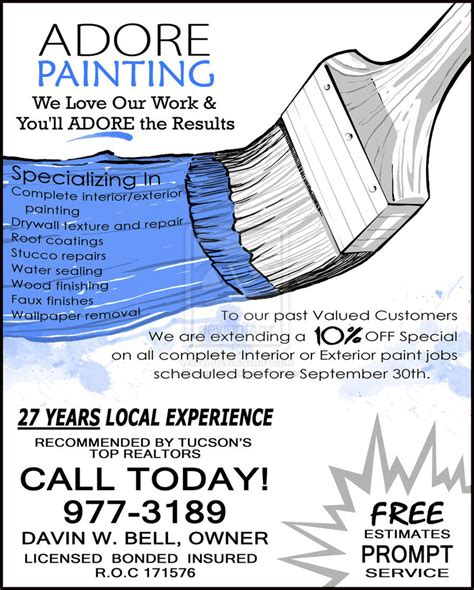painting flyers templates free 1000 images about paint on house painters