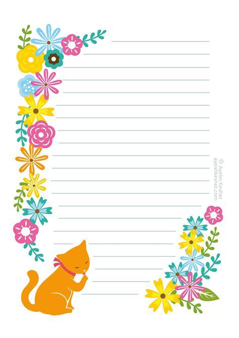 printable writing paper printable stationery