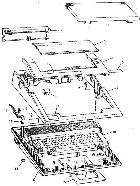 typewriter parts diagram sears correctronic 145 typewriter parts model 53982