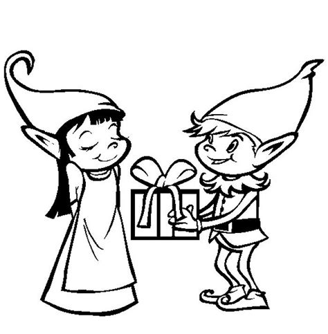 Girl Elf On The Shelf Coloring Pages Elves Coloring Pages