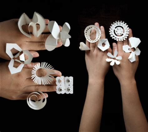 How To Make Rings Out Of Paper - fold out paper rings paper crave
