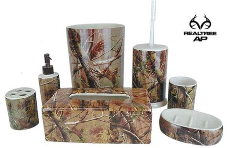 Camouflage Bathroom Set by Realtree Camo Bath Accessories Camo Home Decor
