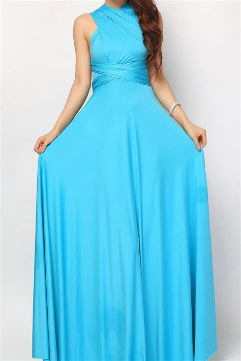 turquoise maxi convertible infinity dress bridesmaid dress