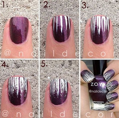 easy nail art stripes easy stripes with glitter nail art this is such a easy
