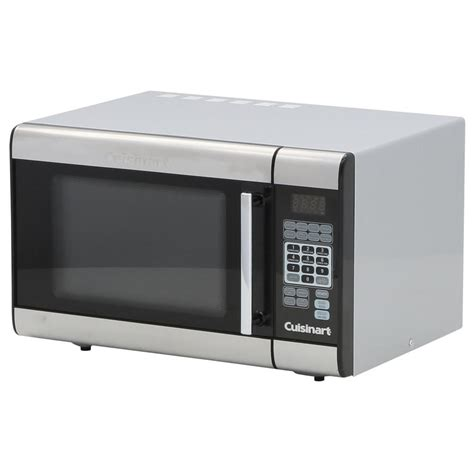 cuisinart 1 0 cu ft countertop microwave in stainless