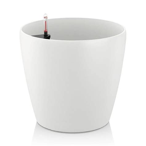 affordable self watering planter lets you grow a countertop garden self watering planter white greenmylife anyone can