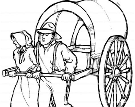 Lds Clipart Etsy Lds Pioneer Coloring Pages