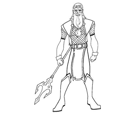 greek god poseidon coloring pages