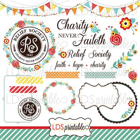 doodle lds ideas lds relief society clipart charity never faileth vibrant
