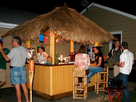 how to build a backyard bar how to build a tiki bar with a thatched roof hgtv