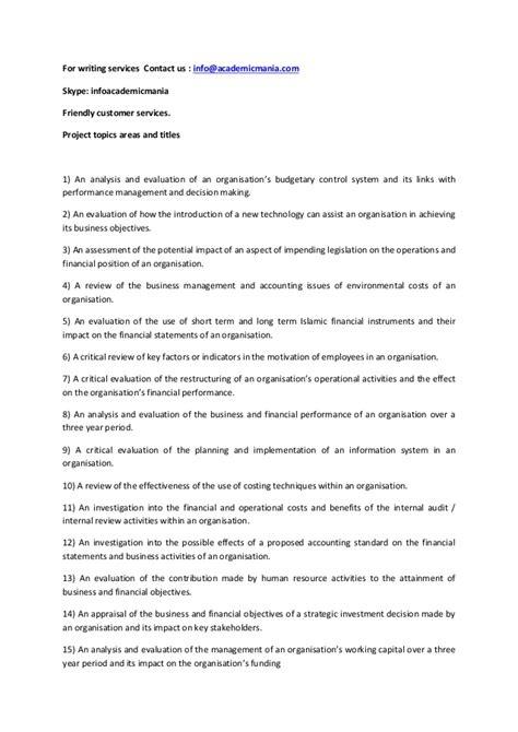 dissertation accounting accounting dissertation topics