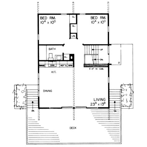 350 sq ft floor plans modern style house plan 4 beds 2 baths 1536 sq ft plan