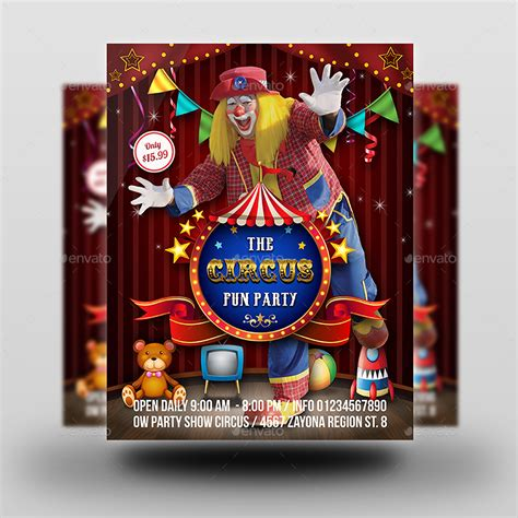 Circus Flyer Template by Circus Flyer Template By Owpictures Graphicriver