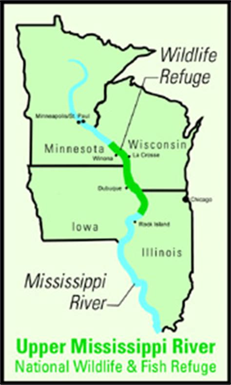 us map showing states and mississippi river recreational activities