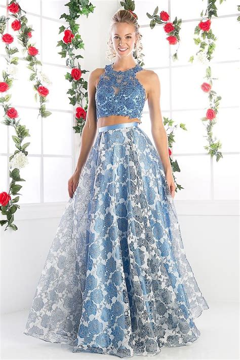 Set 2in1 Longdress designer runway 2 perry blue prom dress floral gown 600 ebay