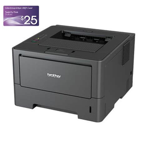 Coles Group Gift Card Discount - free 25 coles myer gift card when purchase with brother hl 5440d printer mwave com au