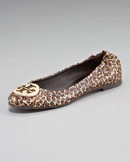 Burch Reva Ballerina Flat Shoes Smooth Leather Ghw Mirror Quality 1 Burch Reva Mini Leopard Printed Ballerina