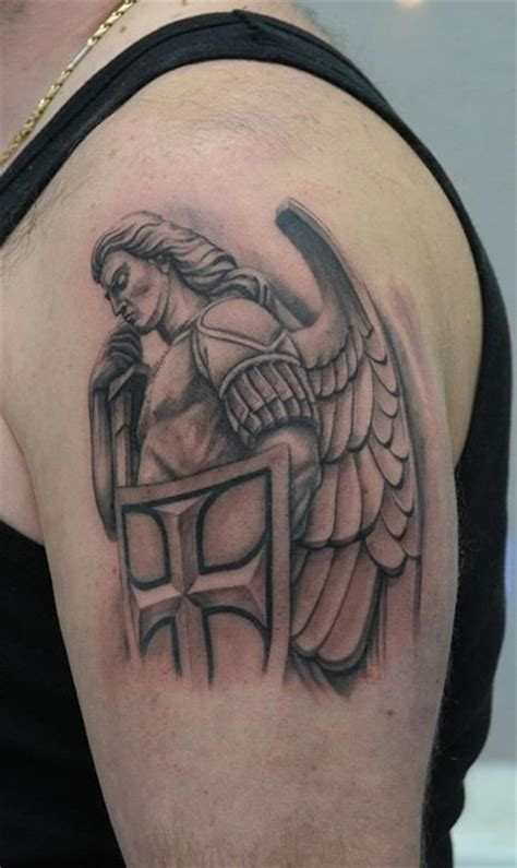 warrior angel tattoo by daniel alexandru tattoo