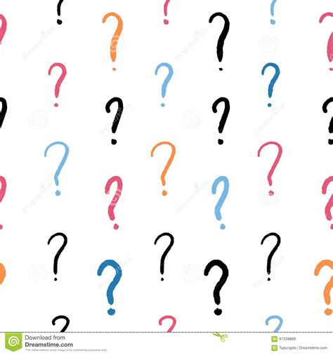 doodle poll question marks question background stock vector image of orange sketchy