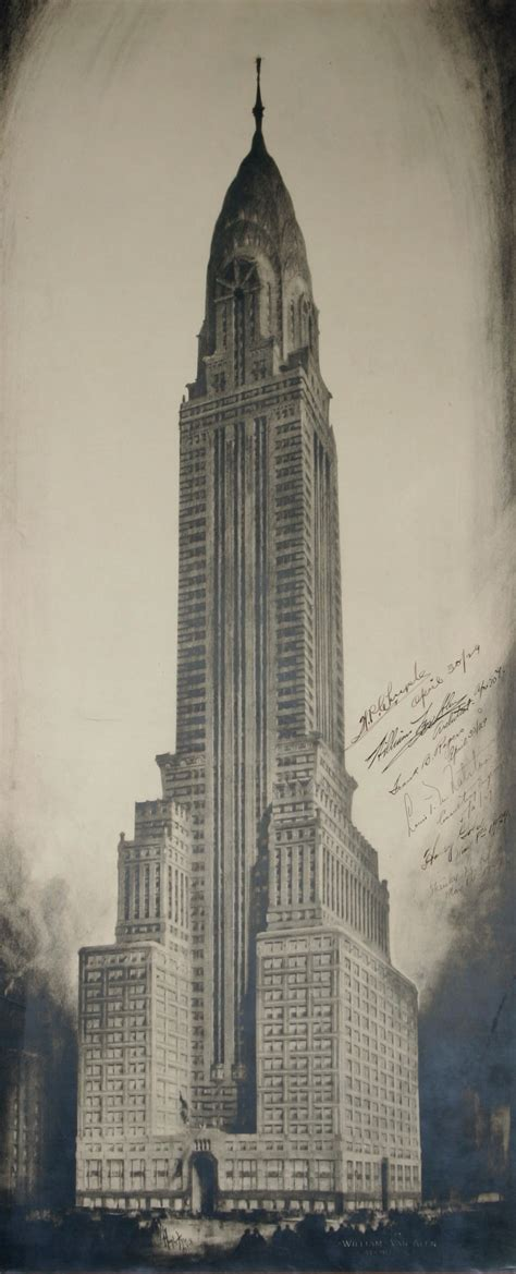 Chrysler Building Drawing by Chrysler Building Manhattan Ny Architectural Drawings