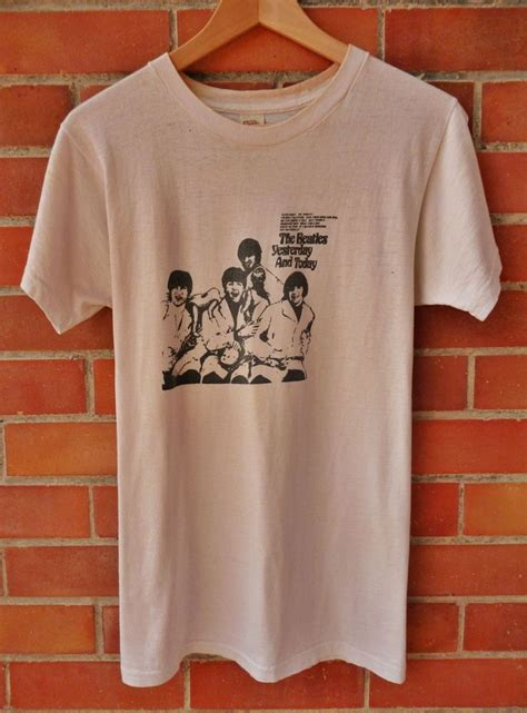 The Beatles Tees T Shirt vintage 1970s 70s the beatles butcher cover album promo t shirt the beatles collectibles