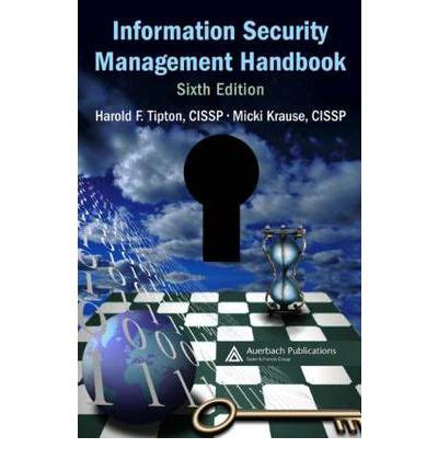 Handbook Of Information Management information security management handbook harold f