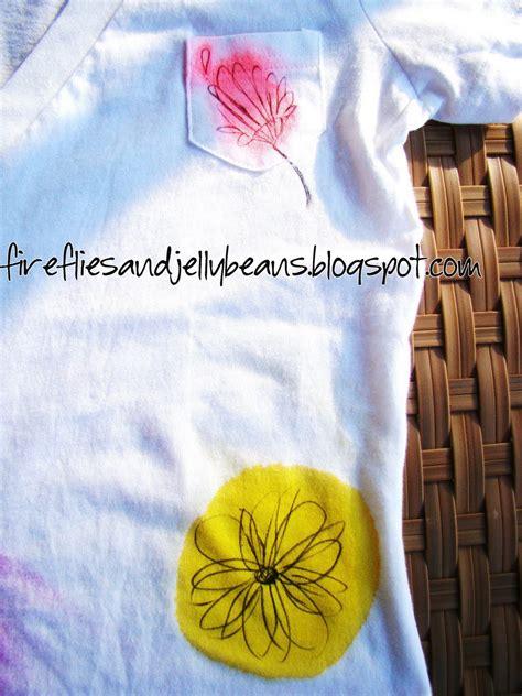 fireflies  jellybeans scribble flower  shirt tutorial