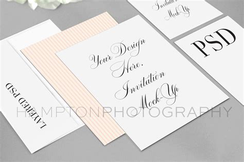 Wedding Invitation Suite by Wedding Invitation Suite Mock Up 183 Htons Designs