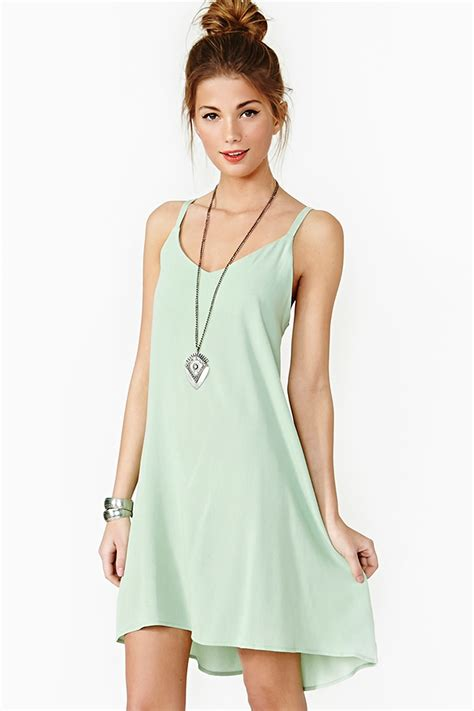 lace up dress mint clothing style