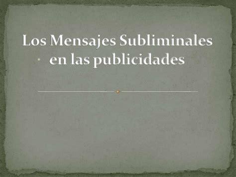 mensajes subliminales usos los mensajes subliminales en las publicidades