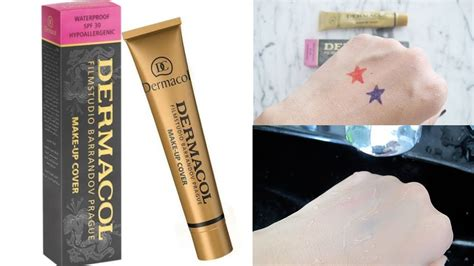 dermacol base make up cover super base de maquillaje youtube