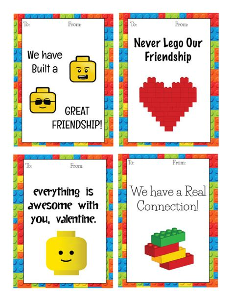 printable lego card cute lego themed valentines printable cards
