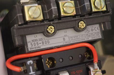 allen bradley 509 motor starter wiring diagram wiring