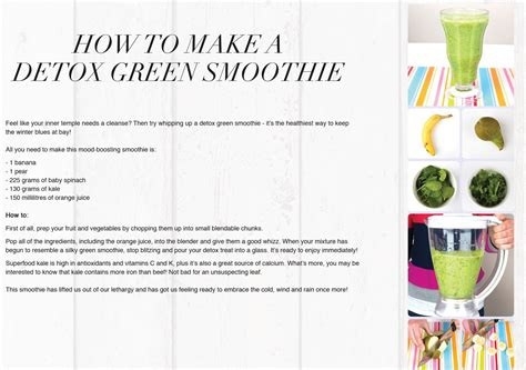 How To Make A Green Smoothie Detox by Food How To Make A Detox Green Smoothie Lilla