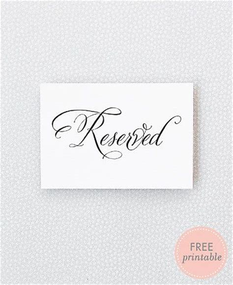 reserved seating card template ceremony best 25 reserved wedding signs ideas on