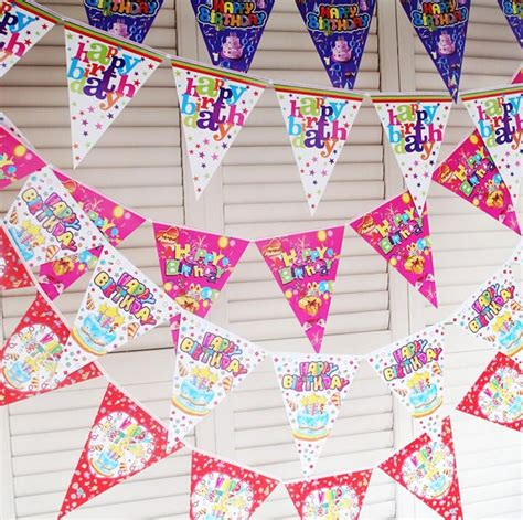 Bunting Flag Diy Banner Baby Shower Banner Bridal Shower Banner Req colorful paper flags bunting pennant baby shower happy birthday banner child room decor