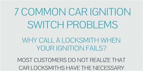 7 common car ignition switch problems by brainspike infogram