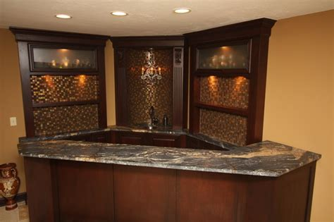 Corner Bar Designs corner bar traditional basement cleveland by architectural justice