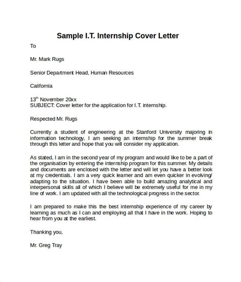 cover letter sle for information technology position 8 information technology cover letter templates to