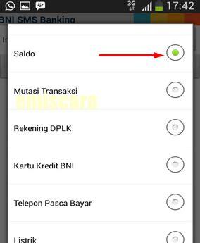 format cara cek saldo sms banking bni begini cara menggunakan sms banking bni di android