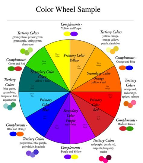 pink color wheel using complements to create depth and control saturation