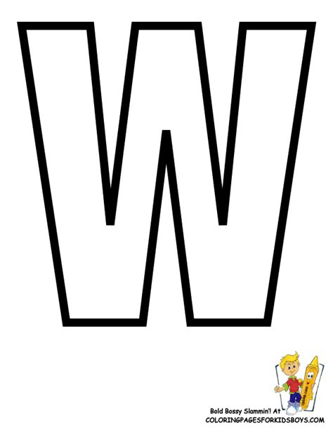 Letter W Coloring Pages Printable by Classic Alphabet Printables Learning Letters Free