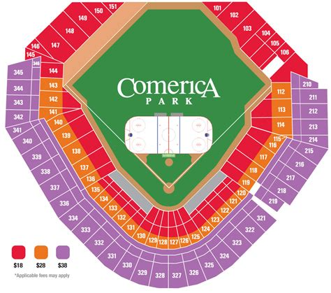 comerica park seating sections comerica park detroit mi seating chart view