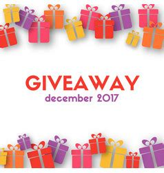 gift card giveaway template giveaway vector images 560