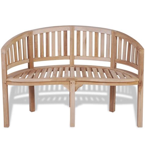teak banana bench vidaxl co uk vidaxl teak banana bench with 2 seats 120 cm