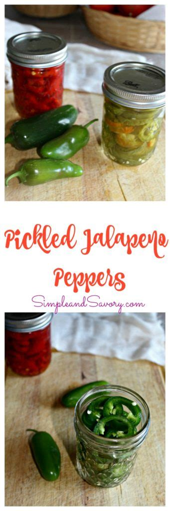 pickled jalapeno peppers simple  savory