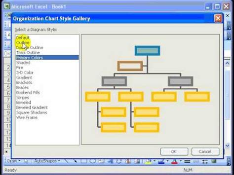 Excel 2007 Organizational Chart Template by Organizational Chart In Excel